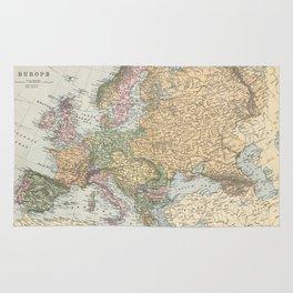 Vintage Map of Europe (1892) Rug