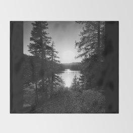 Devils Lake Throw Blanket