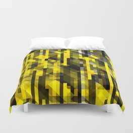 abstract composition in yellow and grays Duvet Cover