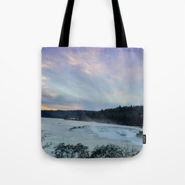 A CHILLY WINTER WILLAMETTE FALLS SUNSET Tote Bag