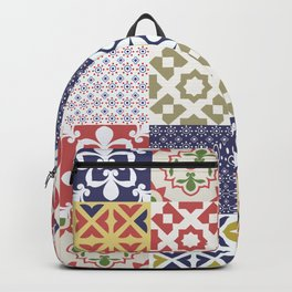 Portuguese pattern color Backpack