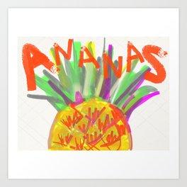Pineapple for xd00d00x No.2 Art Print