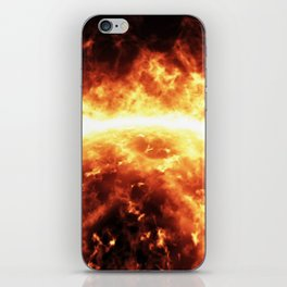 Sun surface with solar flares iPhone Skin