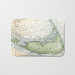 Vintage Map of Nantucket (1857) Bath Mat