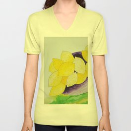 Lemon Bowl Unisex V-Neck