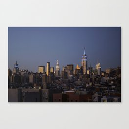 Evening Skyline - NYC Canvas Print