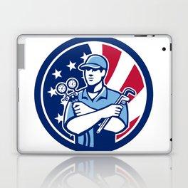 American Air-Con Serviceman USA Flag Icon Laptop & iPad Skin