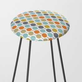 Retro Circles Mid Century Modern Background Counter Stool