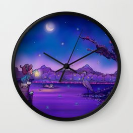 The Unexpected Visitor Wall Clock