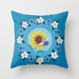 Australian Spring Mandala Throw Pillow
