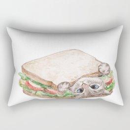 Sandwich cat Rectangular Pillow