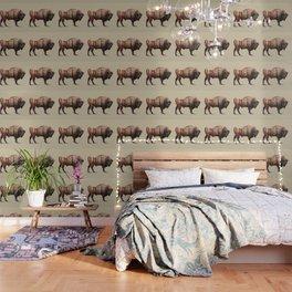 Bison double exposure Wallpaper