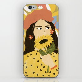 Sunflowers In Your Face iPhone Skin