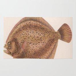 Vintage Flounder Fish Illustration (1919) Rug