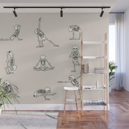 Skeleton Yoga Wall Mural