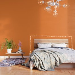 Tangerine - Solid Color Collection Wallpaper