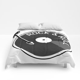 Rock & Roll Record Comforters