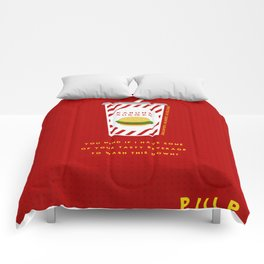 Pulp Non-Fiction Minimalism Comforters