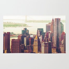 New York City Skyline Colors Rug