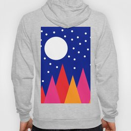 Moonlit Christmas Trees Hoody