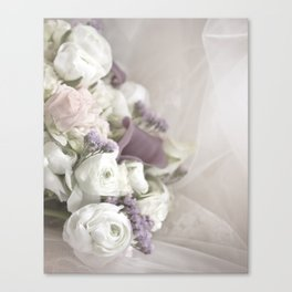 Soft Bouquet Of Flowers Canvas Print