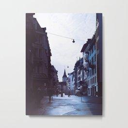 Rainy Zürich Metal Print