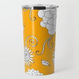 Sunny Crazy Daisy pattern Travel Mug