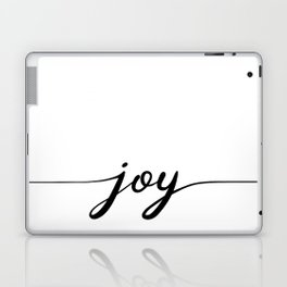 joy calligraphy line Laptop & iPad Skin