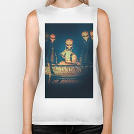 Alien Abduction Alien Autopsy Biker Tank