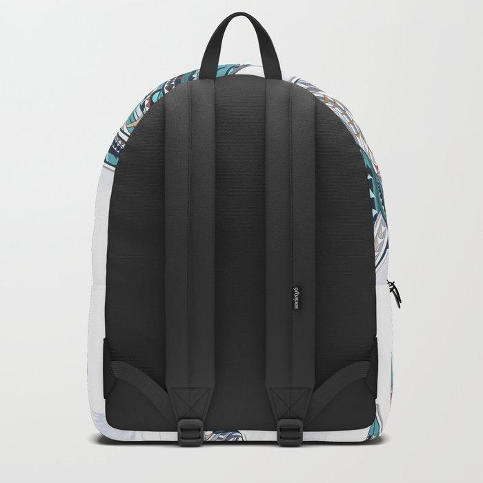 Blue Grey Ethnic Horse Backpack