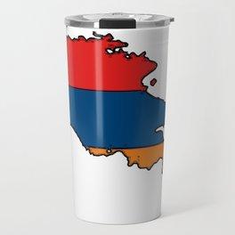 Armenia Map with Armenian Flag Travel Mug
