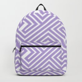 Abstract modern geometrical ultraviolet white key pattern Backpack