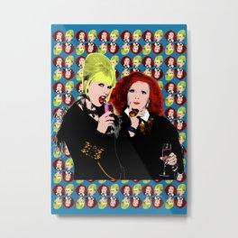 """TV Queens - Ab Fab """"Sweetie"""" Metal Print"""