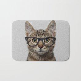 Hipster Cat Bath Mat