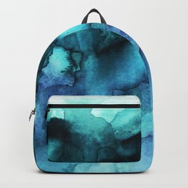 Abstract teal purple watercolor Backpack