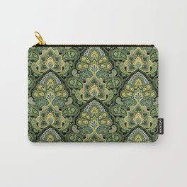 Green and Blue Paisley Carry-All Pouch