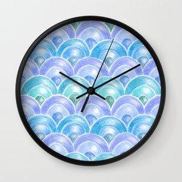 Colour pencils Japan waves Wall Clock