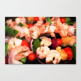 Shrimp on the Barbie Canvas Print