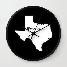 Texas State border Wall Clock