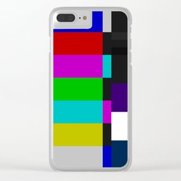 SMPTE Color Bars (as seen on TV) Clear iPhone Case