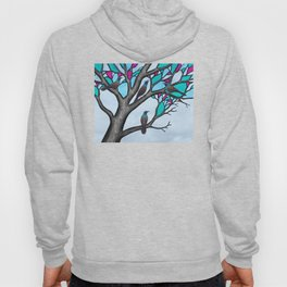 grackles in the stained glass tree Hoody