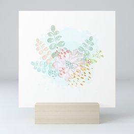 Paint splatter flower Mini Art Print