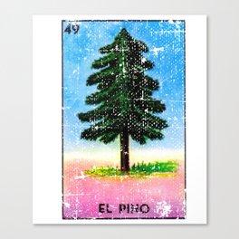El Pino Mexican Loteria Bingo Card Canvas Print