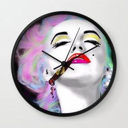 Marilyn Punked and smoking Wall Clock