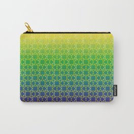 Geometry Star Pattern Yellow Green Blue Carry-All Pouch