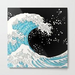 The Great Wave (night version) Metal Print