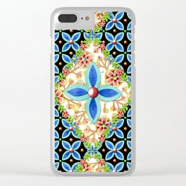Elizabethan Folkloric Blossoms Clear iPhone Case
