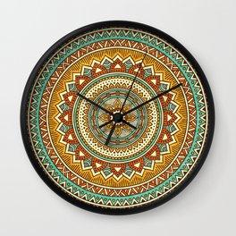 Hippie Mandala 10 Wall Clock