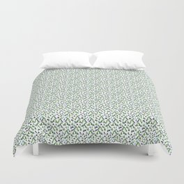 Abstract Watercolor Forest Duvet Cover