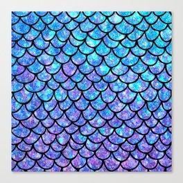 Purples & Blues Mermaid scales Canvas Print